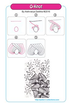 o-knot tangle pattern -aishwarya-darbha PatternCollections.com