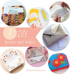 7 DIY Business Card Holders - Super easy projects...love them!  EverythingEtsy.com #DIY #etsy
