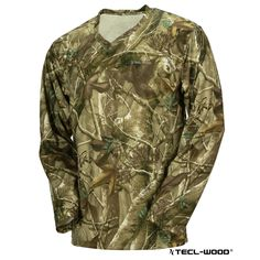 #New #TECLWOODCamo TECL-WOOD Long Sleeve Camouflage T-Shirt