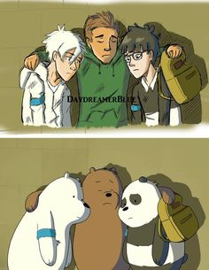 As I have said, currently have an obsession with We Bare Bears My best friend and I watch it together and her family will join us So this'll be a tradit. We Bare Bears- Screenshot Redraw 1 Cartoon Characters As Humans, Cute Characters, Anime Vs Cartoon, Cartoon Art, We Bare Bears Wallpapers, Cute Wallpapers, We Bare Bears Human, Bear Character, We Bear