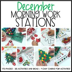 Some people put their holiday decorations up the day after Halloween. I don't judge. I get it, it's a magical time of the year. So I'm hoping you won't judge me when I tell you that I have every intention of starting December Morning Work Stations a week before December actually graces us with its …