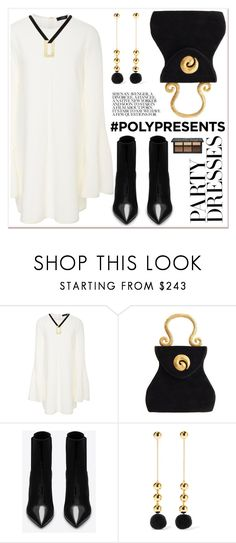 """#PolyPresents: Party Dresses"" by spenderellastyle ❤ liked on Polyvore featuring E L L E R Y, Edouard Rambaud, Yves Saint Laurent, Elizabeth and James, contestentry and polyPresents"