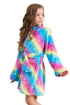 Doctor Unicorn Soft Unicorn Hooded Bathrobe Sleepwear - Unicorn Gifts for Girls Barbie Girl Toys, Pink Galaxy, Rainbow Galaxy, Unicorn Outfit, Unicorn Clothes, Little Girl Toys, Bath Girls, Christmas Gifts For Girls, Unicorn Gifts