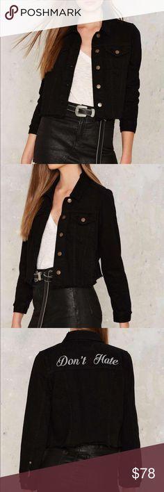 Super adorable denim jacket Brand new never been worn ! Nasty Gal Jackets & Coats Jean Jackets