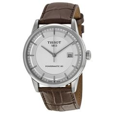 Tissot Luxury Powermatic 80 Automatic Silver Dial Brown Leather Men's Watch (W-T0864071603100)