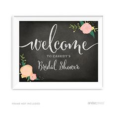 Andaz Press Personalized Wedding Party Signs, Chalkboard Pink Coral Floral Roses Print, 8.5x11-inch Wall Art, Poster, Gift, Welcome to Madison's Bridal Shower Sign, 1-Pack, Custom Made Any Name Andaz Press http://www.amazon.com/dp/B018OIIJGQ/ref=cm_sw_r_pi_dp_M5qfxb1ZX8AWJ
