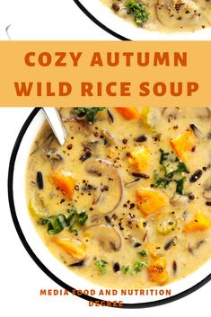 COZY AUTUMN WILD RICE SOUP #HEALTHYBREAKFAST #COZY  This Cozy Autumn Wild Rice Soup is loaded with healthy regular vegetables and wild rice (in addition to chicken, on the off chance that you might want), it's brilliantly velvety and soothing, and simple to make in the Instant Pot, Crock-Pot or on the stovetop.For those occasions when you're longing for a comfortable, smooth, consoling bowl of soup… I have the ideal new formula for you.  #SOUP #HEALTHYFOOD #wildricesoup