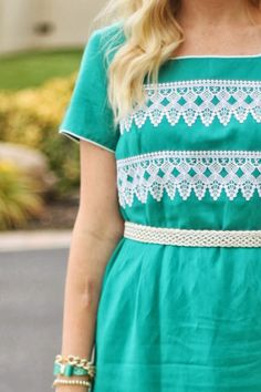 Transform a plain dress into a lace embellished dress without sewing! Simple and easy!