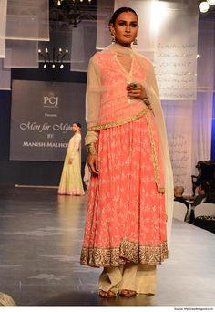 Designer Suits by Manish Malhotra Fuchsia Santari Colored Designer Suits