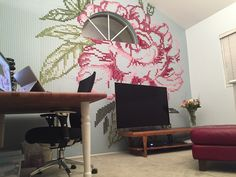 Before & After: A Beautiful Solution for One Big Blank Wall