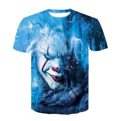 Moda 3d, Hip Hop, Tie Dye, Mens Tops, Joker, T Shirt, Fashion, Casual Shirts, Printed Tees