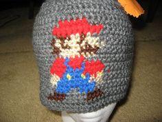Super Mario Brothers Mario Crochet Hat by HannahsCrazyCrochet, $14.00