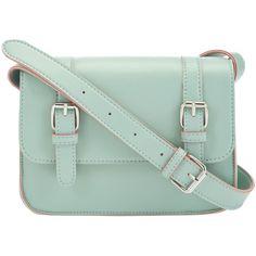 F&F Mini Buckle Satchel ($14) ❤ liked on Polyvore featuring bags, handbags, purses, accessories, bolsas, bolsos, satchel purse, green purse, miniature purse and green handbag