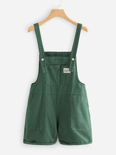 Pocket Front Denim Overalls   SHEIN USA Edgy Outfits, Cute Casual Outfits, Pretty Outfits, Fashion Outfits, Modest Outfits, Skirt Outfits, Modest Fashion, Jumpsuits For Girls, Rompers Women