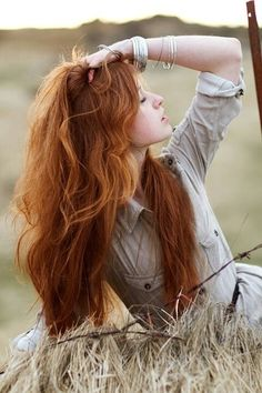 Beautiful Red Hair!! Thinking about this color with some fun peek-a-boo highlights!