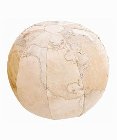 Save the World Canvas Pouf