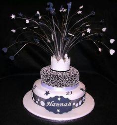 21st Birthday Cake For Girls 60th Cakes Bash Stuff