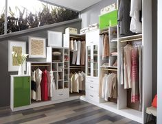 Tiered Walk-In Closet with Contemporary Styling - California Closets Twin Cities