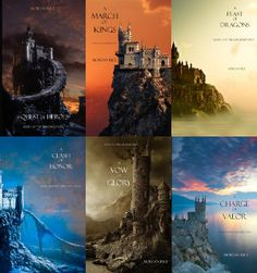 The Sorcerer's Ring Series by Morgan Rice. A Quest of Heroes, A March of Kings, A Feast of Dragons, A Clash of Honor, A Vow of Glory, A Charge of Valor.