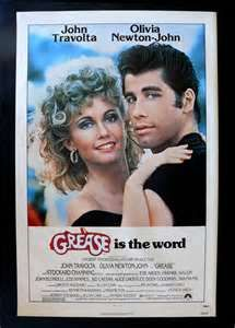 "Grease Movie Poster.  Know the words to most of the songs in this one I've seen it so many times.  Love Danny & Sandy.  ""Tell me about it, stud!"""