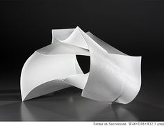 YUFUKU Gallery : Exhibitions - White Porcelain by Shigekazu Nagae - Forms in Succession, and to the Beyond Modern Contemporary, Modern Design, Museum Studies, Paper Folding, White Porcelain, Asian Art, Japanese Art, Sculpture, Acrylic Paintings