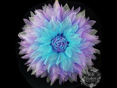 How to make a Deco Mesh Flower - YouTube