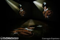 CARAVAGGIO EXPERIENCE - immersive videoart experience designed by videoartist STEFANO FAKE and created at THE FAKE FACTORY laboratory in Florence, Italy.