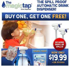 I have to get this!!  Magic Tap dispenser