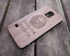 Hey, I found this really awesome Etsy listing at https://www.etsy.com/listing/207859291/hakuna-matata-wood-samsung-galaxy-s5