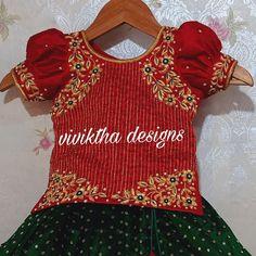 Baby Girl Dress Patterns, Dresses Kids Girl, Kids Outfits, Girls, Saree Tassels Designs, Half Saree Designs, Baby Frocks Designs, Kids Frocks Design, Kids Blouse Designs