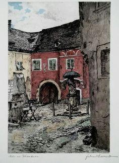 Ferdinand Eckhardt. Motive of Weissenkirchen, Gmunden, Austria. 1930-40