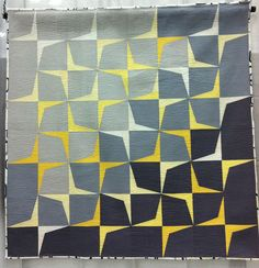 QuiltCon Award Winning Quilts Part 3 --This quilt, Trajectory #2 by Megan Dye of Portland, OR, won first place for Use of Negative Space, Large. Lots more eye candy in this post.
