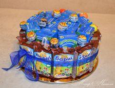 Gallery.ru / Фото #1 - Тортики из конфет - monier