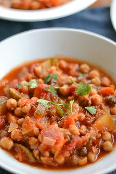 Slow Cooker Chickpea Vegetable Stew with Apricots and Raisins