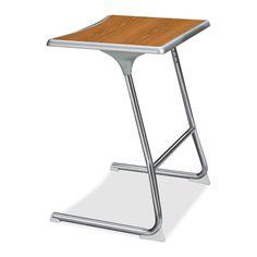 "HON Accomplish CL40HCB Adjustable Height Student Desk Rectangle - 26"" x 20"" x 29"" - Steel, Chrome - Medium Oak Top http://www.officediscountclub.com/Products/HON-Accomplish-CL40HCB-Adjustable-Height-Student-Desk__HONCL40HCBEMMY.aspx"