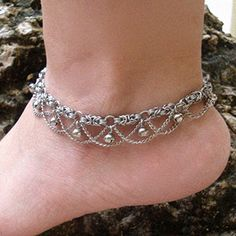 Anklets Jewelry Vintage Styled Chainmail Anklet by Pharewings - Wire Wrapped Jewelry, Wire Jewelry, Jewelry Crafts, Beaded Jewelry, Jewelery, Handmade Jewelry, Jump Ring Jewelry, Ankle Jewelry, Ankle Bracelets