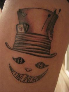 Tim Burton-styled Disney's Alice in Wonderland tattoo