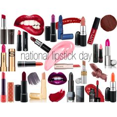 """""""National Lipstick Day!"""" by sweethart88 on Polyvore"""