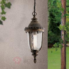 Paula Pendant Light Traditional Patterned Glass