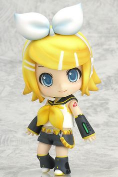 Vocaloid Rin Kagamine is ready to perform again! This Nendoroid re-release is extra special because it comes with three of the best facial expressions submitted by fans. A blank facial expression is also included, enabling infinite possibilities for Rin's expression. The vivid and detailed painting of her outfit has been perfectly completed and is sure to be appreciated by fans and figure photogra...