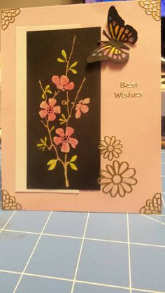 Check out this item in my Etsy shop https://www.etsy.com/listing/220842050/best-wishes-card-with-envelope-flowers