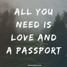 Short quotes about travel - all you need is love and a passport. Looking for simple inspirational short travel quotes to feed your wanderlust and adventure? The 30 best travel short quotes of all times. Travel Quotes Wanderlust, Funny Travel Quotes, Quotes About Travel, Road Trip Quotes, Vacation Quotes, Adventure Quotes, Adventure Travel, Bucket List Quotes, Bucket Lists
