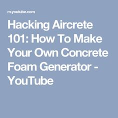 how to make your own aircrete