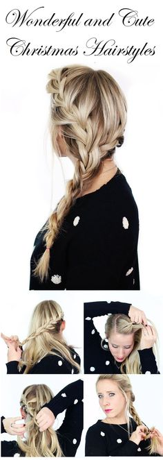 5 Wonderful and Cute Christmas Hairstyles..