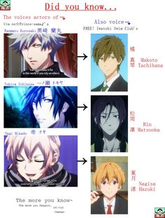 UtaPri x Free! Voice Actor Crossover by ~SGTMYAngeles on deviantART