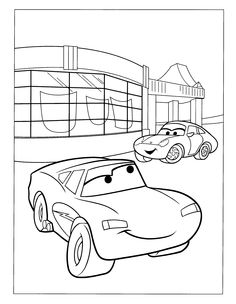 sally carrera coloring pages