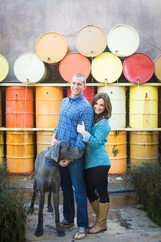 Cute couple, HUGE dog! The full photoshoot is great.