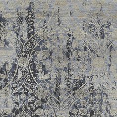 Soussi Hand-Knotted Gray/Ivory Area Rug