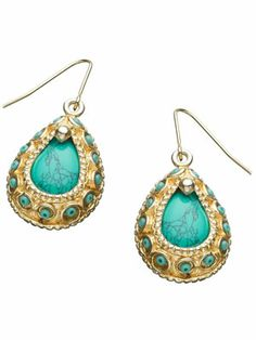 Turkish Turquoise Earrings-  another must have!!