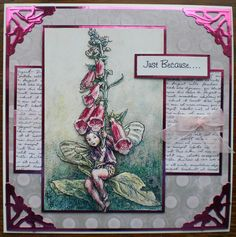 Made using Crafters Companion Flowers Fairies CD